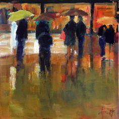 Rainy Evening, painting by artist Liza Hirst