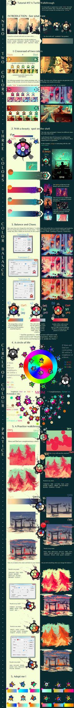 Color Theory Farb Theorie für Illustration, Zeichnen und Malen