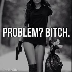 problem? girly photography black and white cool gun money