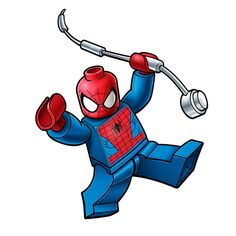 lego spiderman logo by cartj2a, via Flickr