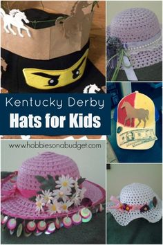 It's #derbytime in #Kentucky! Everyone's getting their #derbyhat ready! Here's some ideas for getting the kids Derby Hats decorated and ready for the big run for the roses!