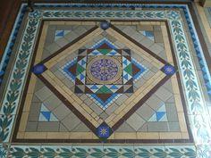Floor tiles, Ballarat Town Hall, Ballarat, Victoria, Australia