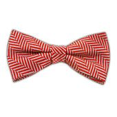 Native Herringbone - Red (Bow Ties) from TheTieBar.com - Wear Your Good Tie Everyday