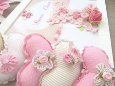 DIY - Pink heart Shabby
