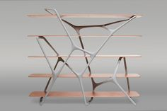 Modern Furniture // Organic modern shelf unit - Naturoscopie shelf by Noe Duchaufour-Laurance, via » CONTEMPORIST