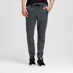Men's Knit Jogger Acid-Washed Gray M - Mossimo Supply Co., Size: Medium