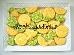 Lemon and Lime and Dos Equis Decorated Sugar Cookies