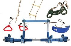 Gorilla Gym Kids with Indoor Swing, Plastic Rings, Trapeze Bar, Climbing Ladder, and Swinging Rope