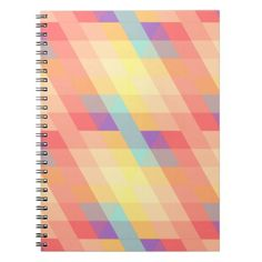 Colorful pattern notebook - pattern sample design template diy cyo customize
