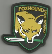 FOXHOUND SFG BLACK OPS COMBAT TACTICAL BADGE MORALE 3D PVC VELCRO MILITARY PATCH