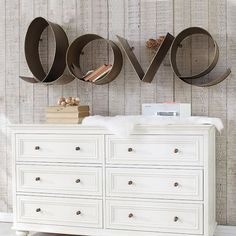 Metal Love Shelf I LOVE THIS!  Want for El's room so badly!  wonder if I could DIY???
