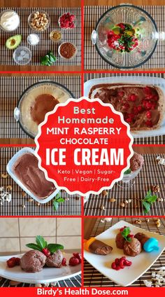 Today I offer you the best homemade, chocolate, mint, and raspberry ice cream a combination that I really liked and that fully satisfied me, light, creamy, flavorful, a keto, vegan, sugar-free, and dairy-free recipe.