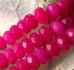 """h3324 5x8mm Faceted Rose Agate Abacus Gems Loose Beads 15""""A-352, $2.25"""