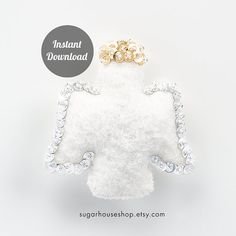 Christmas Angel  Individual Ornament PDF Pattern by SugarHouseShop