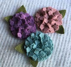 2 Inch Wool Felt Hydrangea 2019 2 Inch Wool Felt Hydrangea The post 2 Inch Wool Felt Hydrangea 2019 appeared first on Wool Diy. Felt Diy, Felt Crafts, Fabric Crafts, Sewing Crafts, Felt Flower Bouquet, Felt Flowers, Fabric Flowers, Ribbon Embroidery Tutorial, Silk Ribbon Embroidery