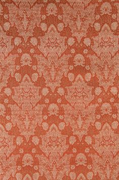 The high-end Orange Silk Brocade 501 Fabric is machine-woven with silk threads in intricate designs and patterns. Buy fabric by the Yard at NY Designer Fabrics. Buy Fabric, Silk Fabric, Silk Brocade, Home Decor Fabric, Silk Thread, Fabric Design, Orange, Rugs, Pattern