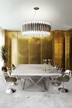 Magnificas imagens de lâmpadas luxuosas que escolhemos só para si. #delightfull  #uniquelamps #Dining Room Chandelier #Living Room Chandelier