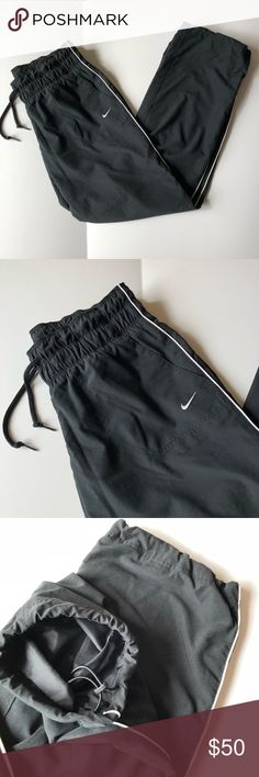 NIKE Classic Black and White Track Pants Joggers In great used condition! ALL  OFFERS WELCOMED. ☑️ From a smoke free and pet free home ☑️ your order ships within 24 hours! Make sure to check out my other items for an awesome bundle deal! If additional photos needed, please specify of what and where! TOP RATED SELLER, TOP SHARER, FAST SHIPPER & POSH AMBASSADOR 💃🏽 Nike Pants Track Pants & Joggers