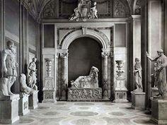 speciesbarocus:  Musei Vaticani: Galleria delle Statue con Arianna giacente (c. 1885). > Photo byFratelli Alinari.