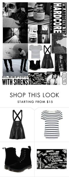 """Black And White"" by sup-its-alex-peace ❤ liked on Polyvore featuring Sandro, Oasis, Vans, Dr. Martens and INDIE HAIR"