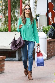 Alessandra Ambrosio was out and about in Santa Monica on Monday (March 18)