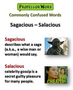 sagacious and salacious -