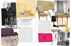 AD Spain features the Veronese Jeau d'Eau Chandelier and Concorde Gold Leaf Sconce both designed by Andre Arbus respectively in 1949 and 1952.
