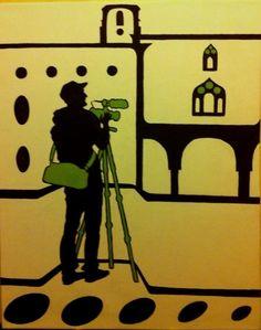 Perugia. 40X50cm, acrylic on canvas
