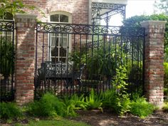 I  love the look of this fence, but I would have the columns be rock instead of…