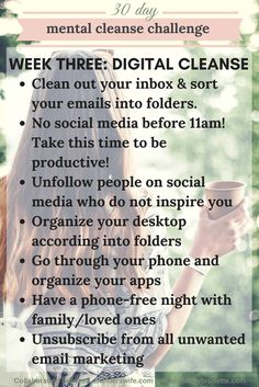 Mental Cleanse Challenge: Week Three | www.awelderswife.com