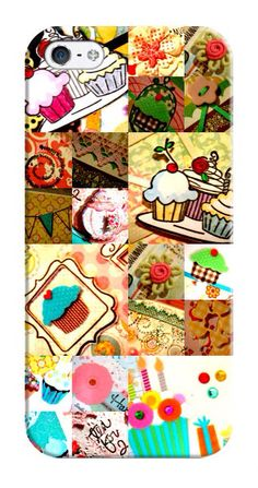 iPhone 5 and Android phones cover,  Cupcake themed by KikkaandTikka, $45.00