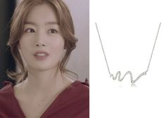 Marriage, Not Dating Episode Kang Se-Ah's Silver Necklace - KdramaStyle Korean Accessories, Jewelry Accessories, Small Necklace, Necklaces, Kpop Fashion, Korean Fashion, Hand Jewelry, Jewellery, Marriage Not Dating