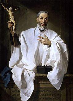 El Santo predicando. Lienzo barroco de Pierre Subleyras (1746).