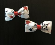 Patriotic Red, White, & Blue Hair Bows (Memorial Day, 4th of July, Labor Day) by CreationsByDMPN on Etsy