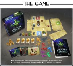 Kyy Games is raising funds for Cabals: The Board Game, an Expandable Card Game (XCG) on Kickstarter! Outmaneuver your friends in this two to four player card game of strategy and tactic! Based on the popular digital game 'Cabals'. Board Game Box, Board Games, Battle Card Games, Player Card, Games Box, Raise Funds, Boards, Contents