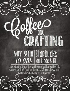 A fun idea for a women's event. Coffee and crafting from Walking Worthy.