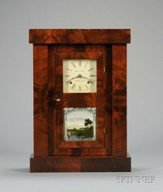 Empire Mahogany Shelf Clock by Chauncey Jerome, Newhttp://www.liveauctioneers.com/item/9453923 Skinner auctions