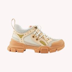 GUCCI Flashtrek Sneakers Aus Leder Beige MarthaLouisa.com