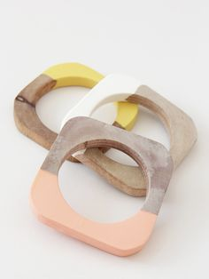 Cold Picnic Dipped Bangle - Mustard « Pour Porter