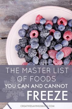 Use this master list of foods you can and cannot freeze to preserve all your ingredients with confidence. Now you know exactly what gets mushy and what stays fresh! Also comes in a convenient printable to hang on your fridge. Freezing Fruit, Freezing Vegetables, Veggies, Canning Vegetables, Freezing Cold, Frozen Vegetables, Frozen Meals, Frozen Fruit, Fresh Fruit