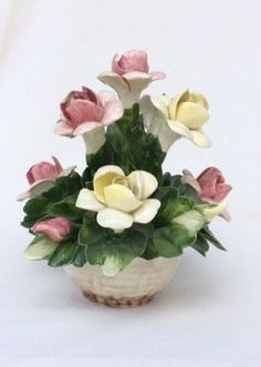 Vintage NUOVA CAPODIMONTE Ceramic by EclecticWhimsyShoppe on Etsy