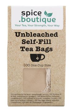 100 spice.boutique UNBLEACHED Self Fill Tea Bags, Drawstring, Eco friendly, UK  | eBay