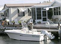 senior coop retirement community has 2 and 1/2 miles of waterfront , a small Marina and 3 internal holding basins