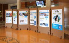 Sistema de exposición modular, ligero, versátil y ecológico. Fácil instalación fabricado con paneles de cartón estructural. CartonLAB.