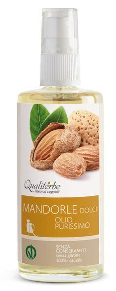 Olio di Mandorle dolci purissimo 100 ml (Vegan Ok) - Qualiterbe Erboristeria Naturopatia -