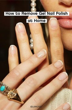 It's easier than you think. #nailinspo #manicure #gelmanicure #nailtutorial Remove Gel Polish, Gel Nail Polish Remover, Gel Nail Removal, Nail Cuticle, Gel Manicure, Diy Nails, Diamond Cosmetics, Red Carpet Manicure, Gel Nails At Home