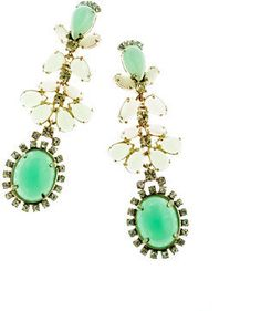 ShopStyle: Cabochon fan earrings