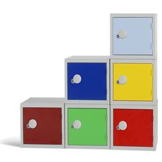 Modular storage - Cube Locker Cube Lockers are the perfect solution if storing small amounts of personal items either at work in school or at home