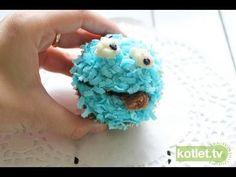 Dekoracja cupcake ciasteczkowy potwór - KOTLET.TV
