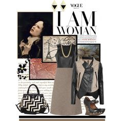 """Rafe """"Bryn"""" satchel in zigzag and leopard haircalf in a set titled """"I am woman"""" by shape-shifter on Polyvore, satchel available @Zappos Couture"""